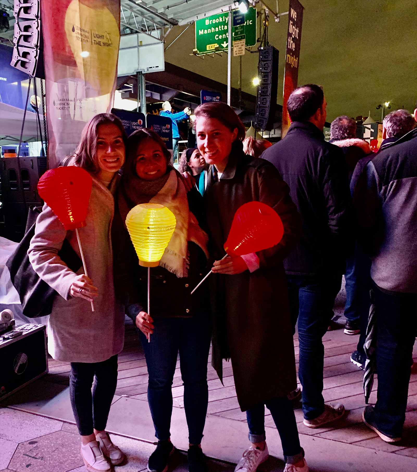 Deallus attend Light the night charity event