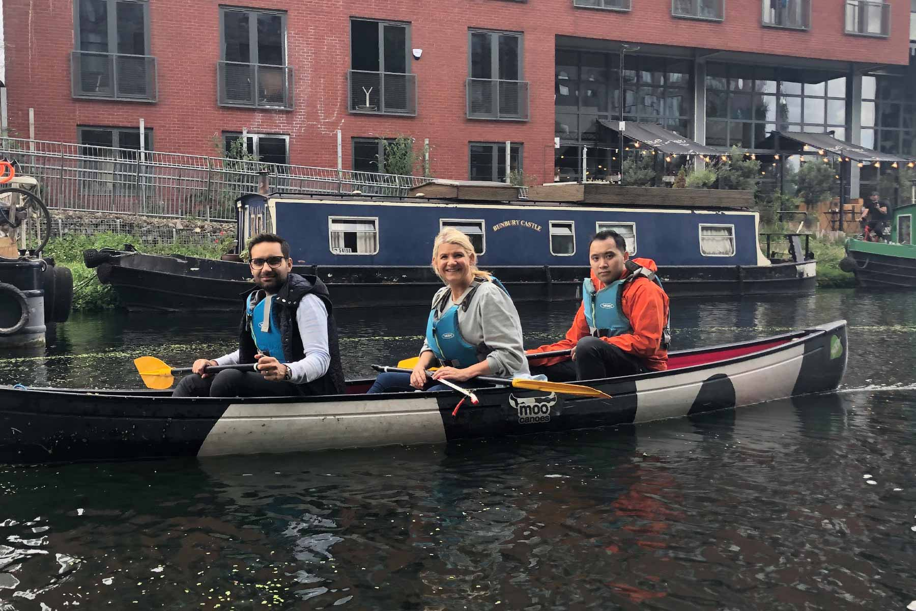 Moo Canoes Litter Picking Deallus Charity CSR