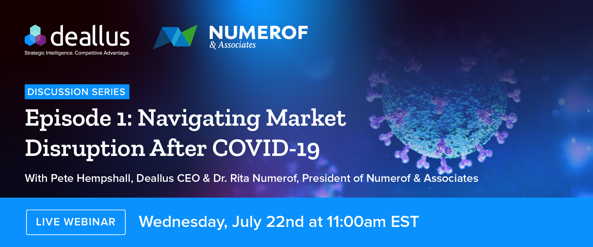 COVID-19 Live Webinar Deallus and Numerof Associates